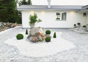 Huset på Ekerö renoverades under fyra månader innan de flyttade in. Bild: Privat