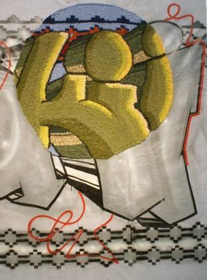 Graffiti. Med tillägg av stickat...