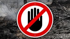 Länsstyrelsen inför förbud att tillträda brandskadad mark i Härjedalens kommun. Fotomontage: Johannes Berndalen/Mostphotos