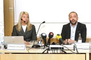 Annika Viklund, vd för Vattenfall Eldistribution och Christian Foster, förbundsdirektör på kommunalförbundet för sjukvård och omsorg i Norrtälje kommun.