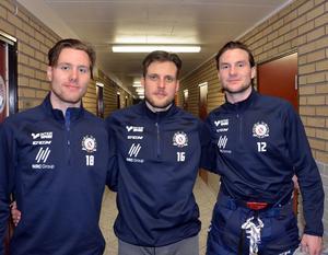 Lars Eriksson, 25, Marcus Andersson, 29 och Nils Eriksson, 25, är övertygade om att dagens Borlänge Hockey har kapacitet för en lika framgångsrik säsong som för två år sedan.