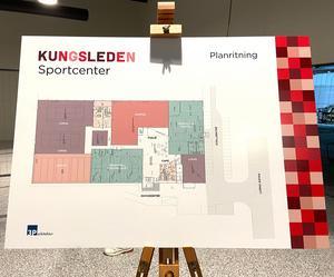 Kungsleden visade upp en planritning vid invigningen. När hela anläggningen är klar ska även bland annat även Korpen och Boulespelare ha lokaler.
