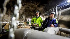 Martin Kling och Roger Zetterlund har i månader arbetat med att göra bergrummen redo.