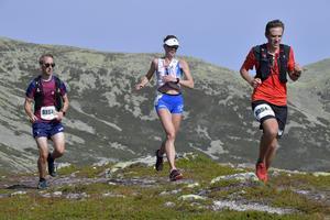 Sofia Byhlinder, Mora på väg mot segern i 28 km klassen.