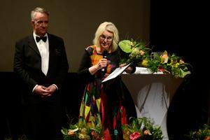 Karin Lindgren fick SCA:s pris som Årets skogsägare.