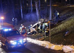 En bild från olyckan. Foto: Fredric Gustafsson