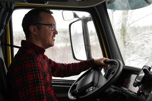 Martin Källgren har 20 års erfarenhet av att köra lastbil.