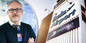 Stefan Carlsson, marknadschef på Dalaflyget, tog emot beskedet om nedläggningen av Göteborgslinjen på tisdagen.