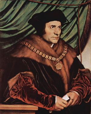 Thomas More 1527. Målning av Hans Holbein.