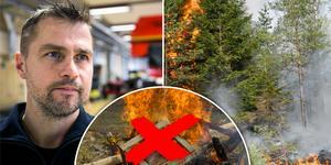 Brandrisken i länets sydöstra delar ökar. Foto: Mikael Hellsten, Hasse Holmberg, Jørn Bærheim