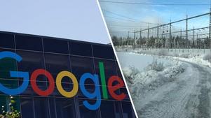 Nu tas nästa steg i arbetet med Googles mark i Horndal. Bilden är ett montage. Foto: TT/Avesta kommun
