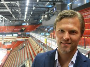 Johan Cahling, direktör för hållbarhet och varumärkesutveckling, i Brynäs IF.