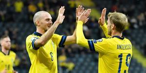Marcus Danielson spelade fram Sebastian Andersson till 1–0. Bild: TT.