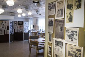 Förutom utställningen om Sone Banger har Erik Friberg även gjort en utställning med gamla tidningsurklipp från Los.