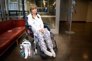 Sofies lunga punkterades av knivhuggen. När NT träffade henne på sjukhuset kort inpå rånet dränerade en pump hennes lunga från blod.