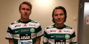 Emil Skogh och Filip Ottosson. Foto: VSK Fotboll