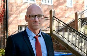 Pascal Brisson, rektor på Engelska skolan i Sundsvall. Bild: Mathilda Gustafsson