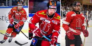 Marcus Weinstock, Rasmus Rissanen och Stefan Warg är de spelare i Örebro hockey som kommer bära ett A på bröstet. Foto: Bildbyrån/David Hellsing