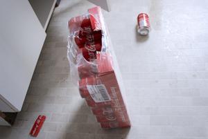 Bytet blev två burkar cola.