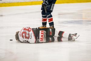 Trots den otäcka situationen ger Mathias Hellgren lugnande besked efter matchen.