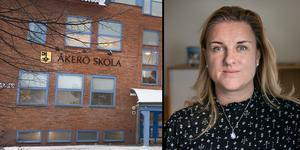 Annica Sandy-Hedin menar att med för många högstadieskolor i kommunen finns det alltid en förlorare.