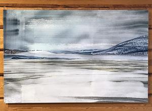 Nog anas inspiration av Lars Lerins akvarellteknik i denna bild, Hemavan, av Nino Ramsby.