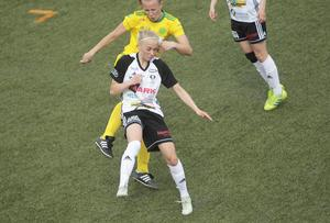 Ella Gunnarsson och hennes BK 30 fick nöja sig med oavgjort.