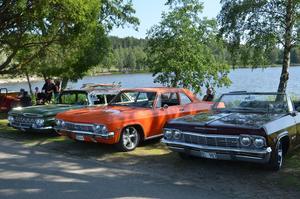 Bilarna som stod parkerade ner mot Lillfjärden ramades in på ett fint sätt av träden, som också skänkte lite välbehövlig skugga i högsommarvärmen.