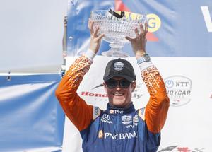 Scott Dixon är teamets mesta mästare. Foto: Mark Blinch/The Canadian Press via AP