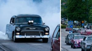 BILDEXTRA: Trots inställda nostalgidagar – hundratals bilar cruisade genom Härnösand under lördagen