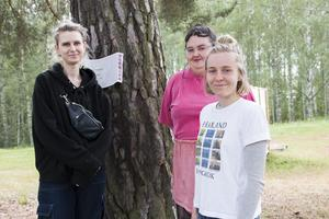 Julia Gidelöw, Sofia Eriksson och Amanda Kujansuu, från Klotterklungan.