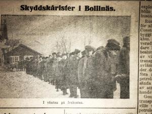 Den här bilden från Nystadskårens besök 25/2 publicerades en tid senare av Ljusnan.