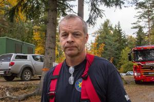 Mats Hurtig, räddningsledare i Fagersta.