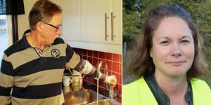 Hans Ledin i Ockelbo bor i kommunen som har högst VA-avgifter i hela landet. Lena Blad är vd på Gästrike Vatten. Bild: Arkiv