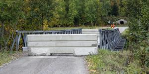 Stålbron över Hedströmmen klarar inte längre motorfordonstrafik. Enligt en inspektion i höstas saknas vissa tekniska komponenter som skulle ha förankrat bron i sidled och strukturella skador har konstaterats i sådan omfattning att bron inte kan öppnas igen.
