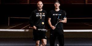 Morgan Hassel och Kenny Källström var båda två lovande talanger i tennis. Foto: Henrik Mill