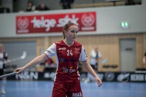 Therese Gustafsson var en dominant spelare i Telge – trots att laget åkte ur SSL.