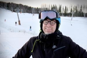 Erling Persson kände sig lite ringrostig under första skidtimmen i Kungsberget för säsongen.