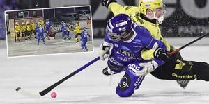 Albin Rohlén var inblandad i det mesta när Motala vann första åttondelsfinalen mot Vetlanda. Bild: Jeppe Gustafsson (TT)
