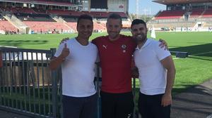 Zeid Yasin, Axel Kjäll och Yaser Kasim. Foto: Privat