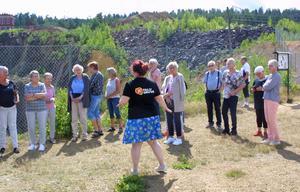 Johanna berättar om gruvans historia.