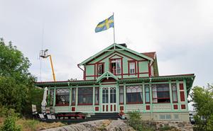 Bilden tagen på den sida av huset som vetter mot havet.