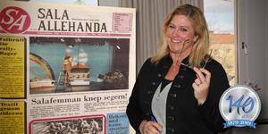 """Carina Swärd började jobba på Sala Allehanda 1990. """"Trots att mycket har förändrats sedan dess är det fortfarande den viktiga kundkontakten som är det absolut roligaste med jobbet som mediesäljare"""", säger hon."""