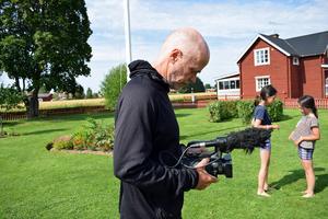 Färden dokumenterades med en av Strandbergs kameror.