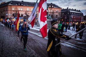 Ett flaggtåg markerade starten av ceremonin.