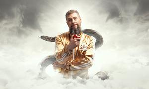 Magnus Betnér som Gud i