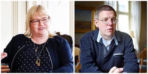 Helene Åkerlind (L) och Erik  Holmestig (C) är kommunalråd i Gävle. Foto: Anna Bagge och Maria Carlsson