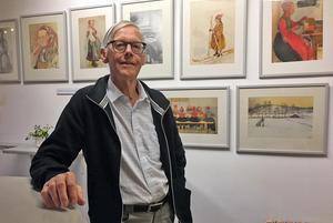 Håkan guidar ofta på museet - när tidningen var på besök väntade han på  en grupp kvinnor från SSAB i Borlänge.
