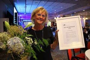 Birgitta Lindblad, VD på Kadesjös, tog emot det Stora näringslivspriset.