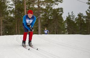 Selångersåkaren Fredrik Pontén bjöd på ett blixtrande leende när han såg kameran.